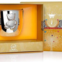 Серебряная кружка Мишка 100КР05001