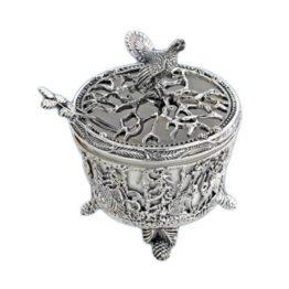 Серебряная солонка Глухарь 599СЛ00006
