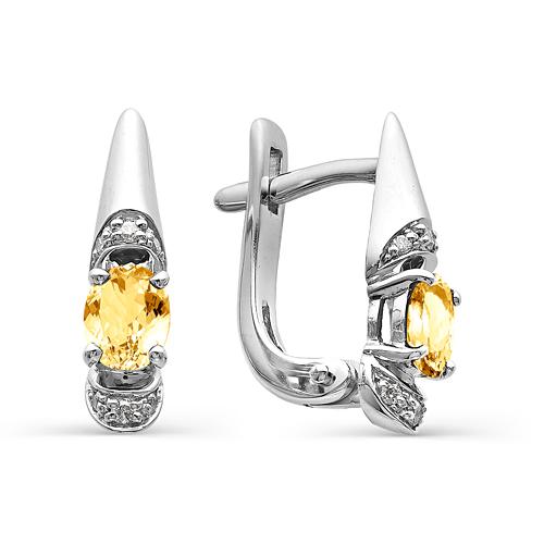 Серебряные серьги 02-0266/00ЦТ-00