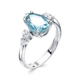 Серебряное кольцо 01-1528/00ТБ-00