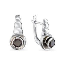 Серебряные серьги 02-0400/00ГР-00