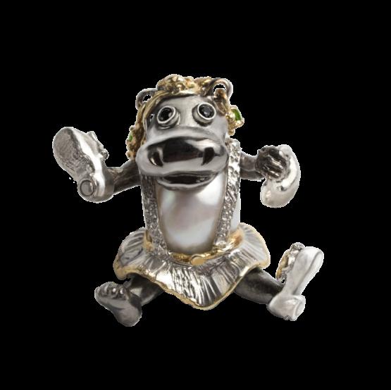 Серебряная подвеска Бегемотичка-модель Акокко