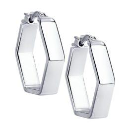 Серебряные серьги 94024184
