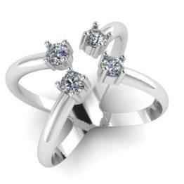 Серебряное кольцо 0101603-00775