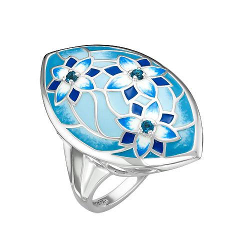 Кольцо серебряное с london-топазами К6210-5381М5