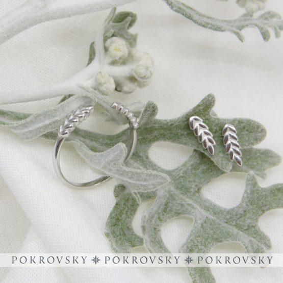 Серебряные пусеты 6101101-00245