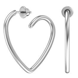Серьги серебряные пусеты 6001417-00245