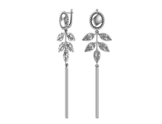 Серебряные серьги 2101154-00245