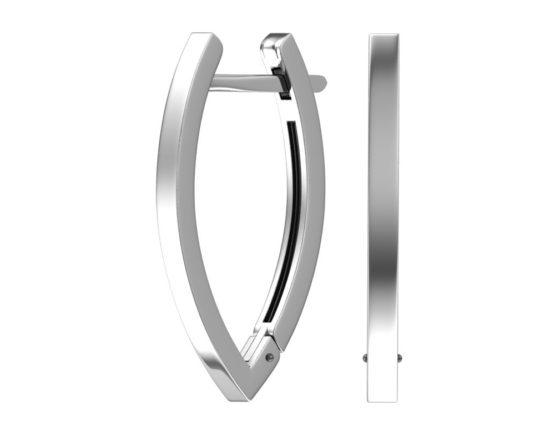 Серебряные серьги 0201472-00245