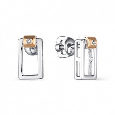 Серьги серебряные 02-1797/000Б-00