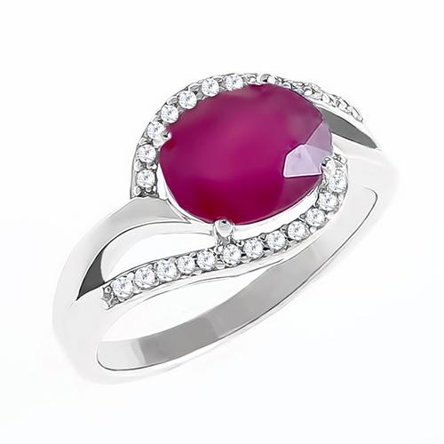 Кольцо серебряное R-DRGR00497-RB