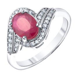 Серебряное кольцо R-DRGR00506-RB
