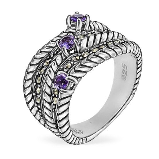 Кольцо серебряное TJR512
