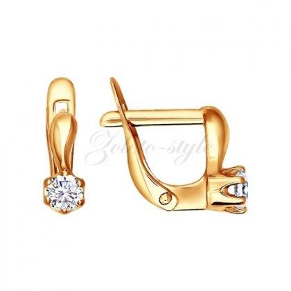Серьги золотые 020595