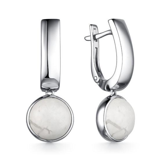 Серьги серебряные 02-2635/00БА-00