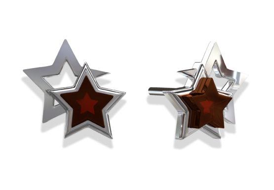 Серьги серебряные E10010-2RV